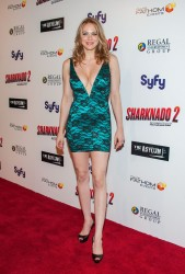 "Maitland Ward - ""Sharknado 2: The Second One"" Premiere (Cleavage) in LA 8/21/14"