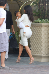 Kim Kardashian - Arriving at a hotel in Beverly Hills 8/25/14
