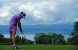 Lexi Thompson during the second round of the Evian Masters at the Evian Masters golf club 7/21/11