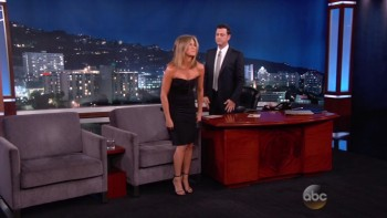 JENNIFER ANISTON - Jimmy Kimmel 08,27,14