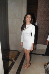 Alia Bhatt leg show with upskirt in short tight dress at the Garnier Triple Nutrition Hair Shampoo Launch event in Mumbai  8/12/14 (42 pics inside)