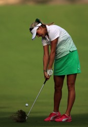 Lexi Thompson at the 2012 Omega Dubai Ladies Masters on the Majilis Course at the Emirates Golf Club 12/4/12 - 12/6/12