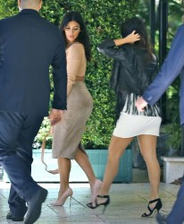 Kim & Kourtney Kardashian - Attending Abbey Wilson's Baby Shower in LA 9/1/14