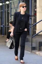 Jessica Chastain Out And About In NY 08-28-2014