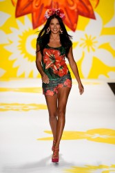 Adriana Lima - Desigual Spring 2015 Fashion Show in NYC 9/4/14