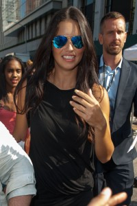Adriana Lima @ New York Fashion Week September 4,