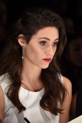 Emmy Rossum - Project Runway Spring 2015 Fashion Show in NYC 9/5/14