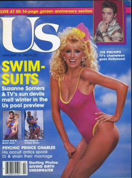 SUZANNE SOMERS *swimsuit* - US magazine cover - (1.14.1985)