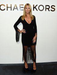 Heidi Klum - Michael Kors Spring 2015 Fashion Show in NYC 9/10/14