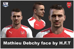 Download M. Debuchy HD face by H.F.T For PES 2013