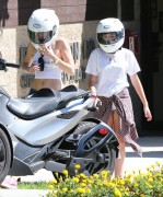 Miley Cyrus - Riding a Can-Am-3 Wheel Motorcycle in Beverly Hills 9/15/14