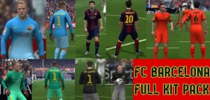 FULL KITPACK FC BARCELONA 2014-2015 for FIFA 14 by erick_sajche