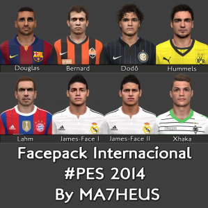 Download PES 2014 Facepack Internacional By MA7HEUS