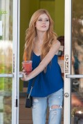 Katherine McNamara leaving Jamba Juice in Los Angeles 09/14/14