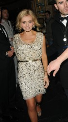Katherine Jenkins slight upskirt leaving the Mahiki Club in London 6/3/12