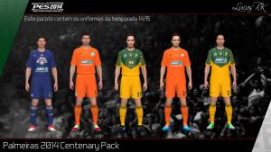 Download PES 2014 SE Palmeiras Centenary Kits Pack 2014/15 v2 by Lukas RK