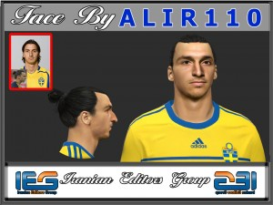 Download PES 2014 Faces Zlatan Ibrahimović by  ALIR110