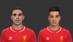 Download PES 2014 Jordan Henderson and Philippe Coutinho Face by reus11