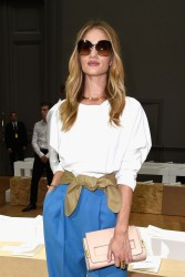 Rosie Huntington-Whiteley - Chloe S/S 2015 Fashion Show in Paris 9/28/14