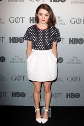 Maisie Williams at HBO's Epic Fan Experience for 'Game of Thrones' at the Barclays Center 3/24/14