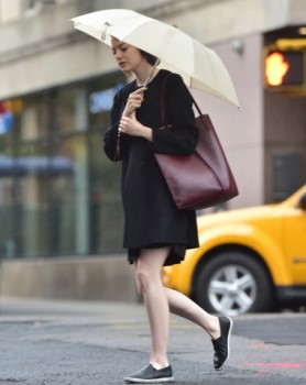 Emma Stone out in the West Village today (Oct. 1)