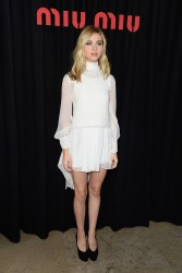 Nicola Peltz - Miu Miu S/S 2015 Fashion Show in Paris 10/1/14