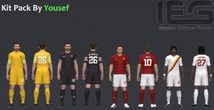 Download PES 2014 A.S. Roma 14-15 Kit Pack By Yousef