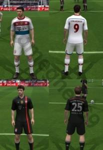 Download FIFA 14 Bayern Munchen 14-15 Away & Third Kits by Romeghea69