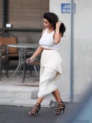 Kim Kardashian - Leaving Bunim/Murray Production Studio in Van Nuys 10/6/14