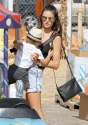 Alessandra Ambrosio - At Mr. Bones Pumpkin Patch in West Hollywood 10/13/14