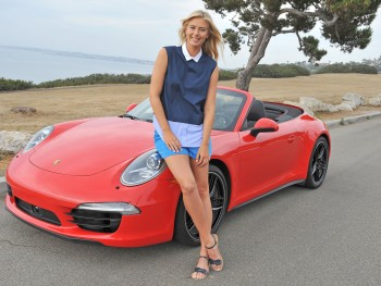 Maria Sharapova - Wallpaper with red Porsche 911 - 1600 x 1200 - x 1