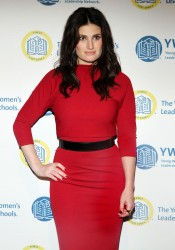 singer idina menzel looking distance