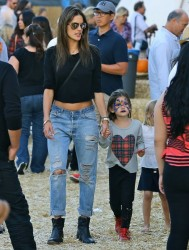 Alessandra Ambrosio - At Mr. Bones Pumpkin Patch in West Hollywood 10/18/14