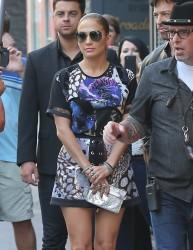 Jennifer Lopez - Filming for 'American Idol' in LA 10/27/14