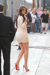 "Khloe Kardashian in a tight short dress heading to the ""Jimmy Kimmel Live"" studios 6/10/10"