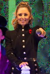 Cheryl Fernandez-Versini Cole Switches on the Oxford Street Christmas Lights in London 06/11/2014 3