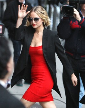 Jennifer Lawrence Going to and at the 'Late Show with David Letterman' in NYC 11/12/14 24