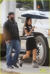 Megan Fox - On the set of 'Zeroville' in LA 11/12/14