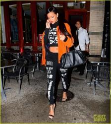 Rihanna - Leaving Silvano restaurant in NYC 11/13/14