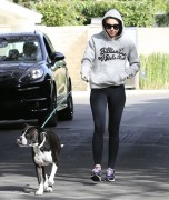 Miley Cyrus - Walking her dog in LA 11/18/14