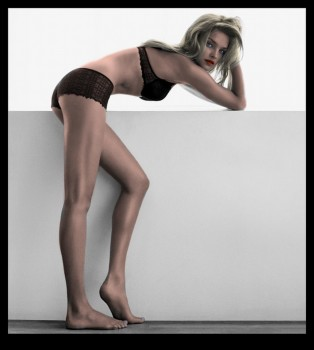 Natalia Vodianova - Lingerie Picture - Colored by me - x 1