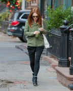Julianne Moore on a morning walk with her coffee in New York City November 25-2014 x29
