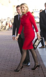Queen Maxima of The Netherlands leggy in pantyhose at the Prince Bernhard Culture Fund Awards in Amsterdam 11/27/11