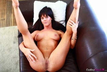 Castingcouchx brunette rahyndee james first time fuck 2