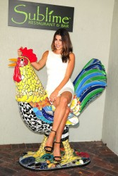 Daniella Monet at Sublime Restaurant & Bar to promote PETA (some tagged)