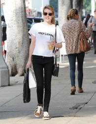 Emma Roberts - Shopping in West Hollywood 1/9/15