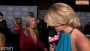 Jennifer Aniston cleavage interview at the 2015 Critics' Choice Awards, January 15, 2015