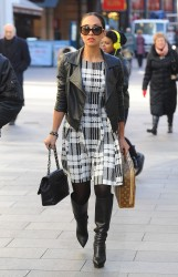 Myleene Klass heading to Capital Radio in London 1/14/15