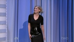 Rosamund Pike | The Tonight Show starring Jimmy Fallon | Feb 5, 2015 | 720p [leggy & see-thru]