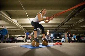 Lara Gut - Training with her Swiss Teammates - x 6